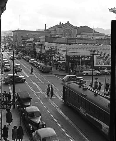 Looking South on Filmore, San Francisco, CA 1947