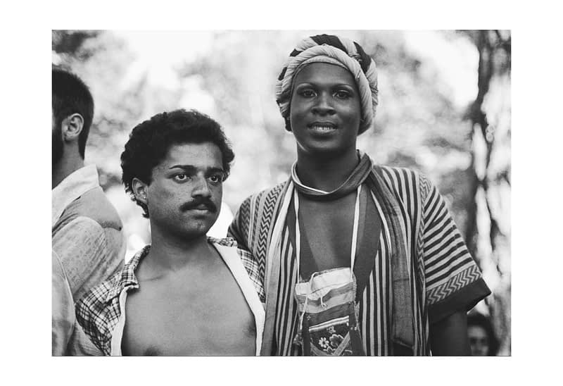 Sylvester and Willie at the 1976 Gay Freedom Day (at the post parade gathering in Golden Gate Park)